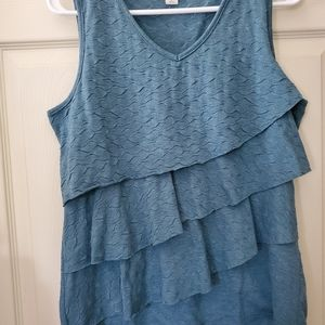 Coldwater Creek Tiered Ruffle Tank Top